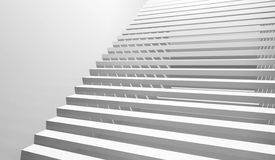 Abstract white interior background with staircase Royalty Free Stock Photos