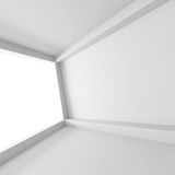 Abstract White Interior With Big Window. 3d Render Illustration Royalty Free Stock Photos