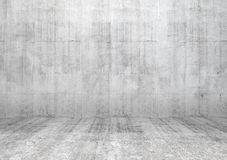 Abstract white interior with concrete wall. Abstract white interior of empty room with concrete wall and floor vector illustration
