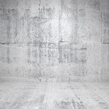 Abstract white interior with concrete walls. Abstract empty white interior with concrete walls and floor Stock Illustration