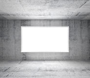 Abstract white interior with concrete walls. Abstract gray interior of empty room with concrete walls and white window Royalty Free Illustration
