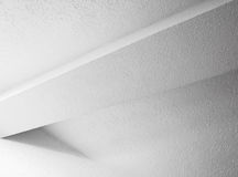 Abstract white interior design with beam Royalty Free Stock Photos
