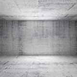 Abstract white interior of empty concrete room Stock Photos