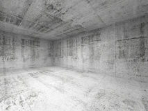 Abstract white interior of empty concrete room Stock Image