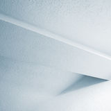 Abstract white interior fragment with beam Stock Photo