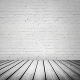 Abstract white interior with wooden floor Stock Images