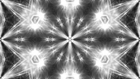Abstract white kaleidoscope. 3d rendering digital background.  Stock Photo