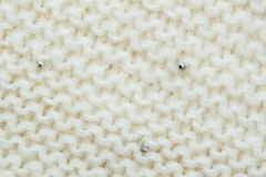 Abstract White knitted Wool horizontal background, soft fluffy texture Royalty Free Stock Images