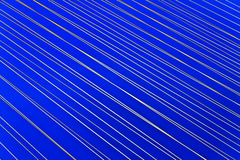 Abstract white light  line on blue Stock Photos