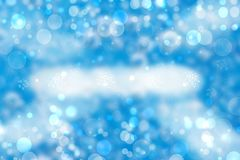 Abstract white lightening bokeh circles from unterwater bubbles. Beautiful blue illustration Stock Illustration
