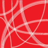 Abstract white line on red background Royalty Free Stock Photos