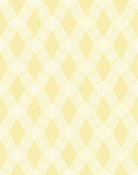 Abstract white line seamless pattern on yellow Royalty Free Stock Images