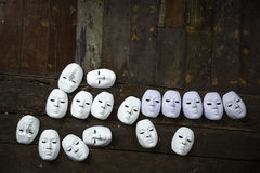 Abstract white mask Royalty Free Stock Images