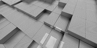 Abstract white metallic background of 3d blocks. Place stock illustration