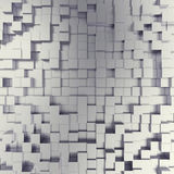 Abstract white metallic cubes background. 3d illustration Royalty Free Stock Photography