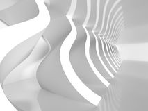 Abstract White Modern Architecture Background. 3d Render Illustration Stock Images