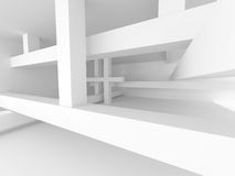 Abstract white modern architecture Interior Royalty Free Stock Photo