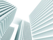 Abstract White Modern Buildings. Architecture Background Royalty Free Stock Image