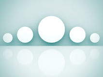 Abstract White Modern Gallery Background. 3d render Illustration Stock Photography