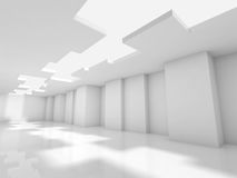 Abstract white modern office interior 3d design Royalty Free Stock Image