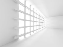 Abstract White Modern Room Interior With Window Stock Images