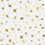 Abstract white modern seamless pattern with gold stars. Abstract white modern seamless pattern with gold 3d stars. Vector illustration. Shiny background Stock Photography