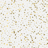 Abstract white modern seamless pattern with gold stars. Royalty Free Stock Image