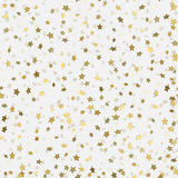 Abstract white modern seamless pattern with gold stars. Stock Photography