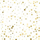 Abstract white modern seamless pattern with gold stars. Vector i. Abstract white modern seamless pattern with gold stars. Vector Royalty Free Stock Photo