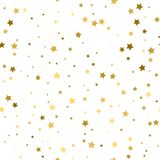 Abstract white modern seamless pattern with gold stars. Vector i. Llustration Royalty Free Stock Photo