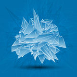 Abstract white modern triangular shape Royalty Free Stock Images