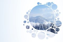 Abstract nature backdrop. Abstract white nature backdrop with bubbles Stock Photos