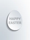 Abstract white oval Happy Easter Egg symbol Royalty Free Stock Photo