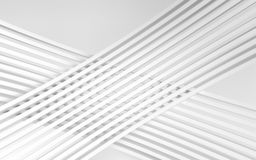 Abstract white panels with copyspace for text. 3D render Royalty Free Stock Images