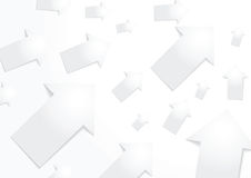 Abstract white paper arrow background Stock Photo