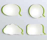 Abstract  white paper circles. Royalty Free Stock Photography