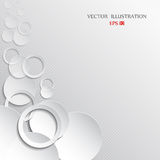 Abstract white paper circles on light background Royalty Free Stock Photography
