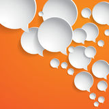 Abstract white paper circles -  speech bubbles Stock Image