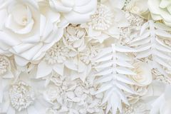 Abstract white paper flower design background Royalty Free Stock Photography