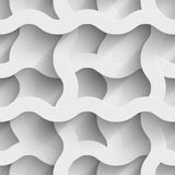 Abstract white paper plexus waves 3d seamless. Background. Vector illustration Stock Image