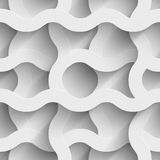 Abstract white paper waves 3d seamless background. Vector illustration Stock Image
