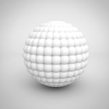Abstract White Particle Spheres Object Royalty Free Stock Photography