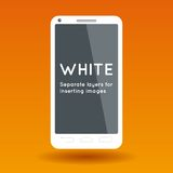 Abstract white phone Royalty Free Stock Photos