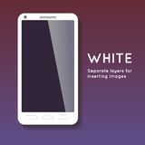 Abstract white phone Royalty Free Stock Images