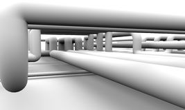 Abstract white piping background 3D rendering Royalty Free Stock Image