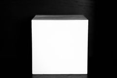 Abstract white plaster geometric shapes cube. Royalty Free Stock Photography