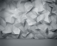Abstract white polygon wall background. Abstract white polygon wall background with vignette effect Stock Image