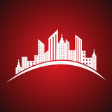 Abstract white real estate icon design Stock Photography