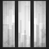 Abstract White Rectangle Shapes Banner. Royalty Free Stock Photo