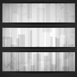 Abstract White Rectangle Shapes Banner. Stock Photography